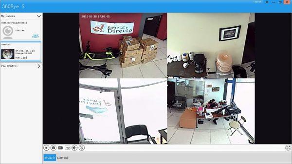 Vista del programa para monitorear por PC