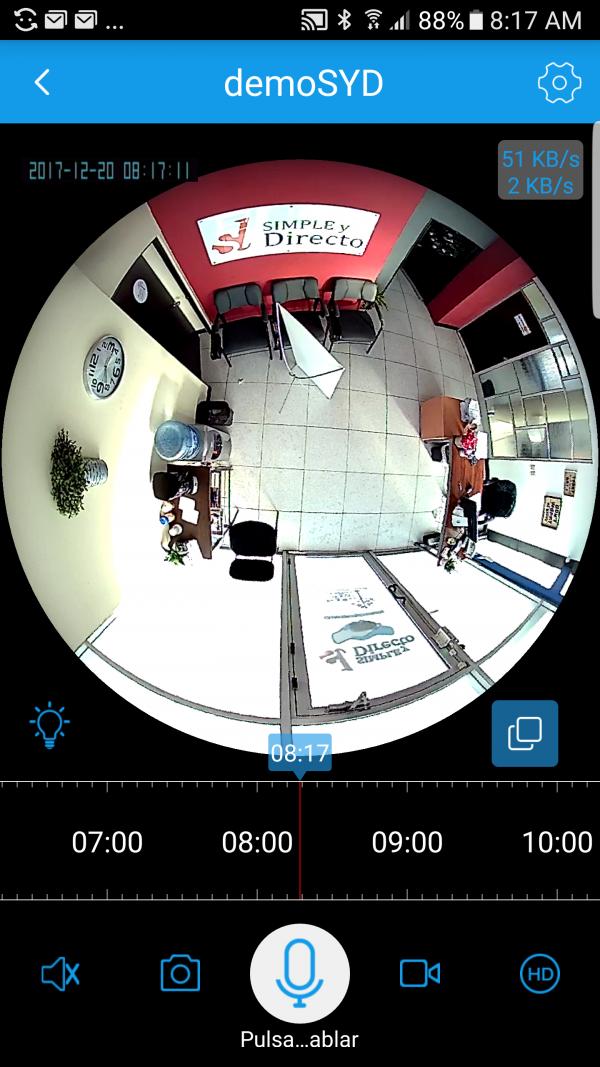 Visión 360° fisheye