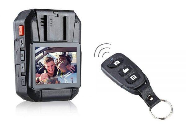 Control remoto para iniciar o parar grabación y tomar fotos de manera discreta