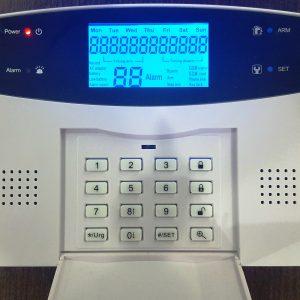 Pantalla LCD con múltiples indicadores