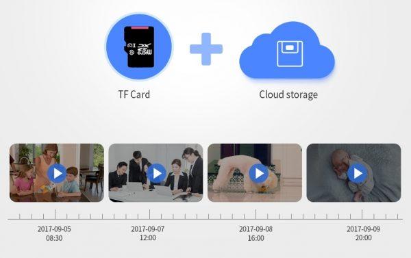 Almacenamiento en tarjeta micro SD y/o en la nube
