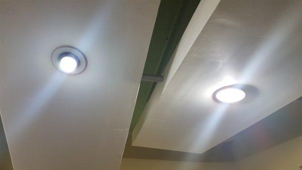 Comparativa contra foco fluorescente.
